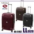 NICOLE ニコル ポリカーボネート 旅行 ビジネス バッグ キャリーケース キャリーバッグ スーツケース 出張 4輪 TSAロック トラベル 3色 高品質 uf-05-5162 LLサイズ