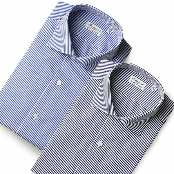 【感謝デー5%OFFクーポン】フィナモレ シャツ ルイージ ドレスシャツ コットン FINAMORE LUIGI 細身モデル MILANO ハンド工程が多い上級モデル メンズ 父の日 父の日ギフト【送料無料】【レ1000】