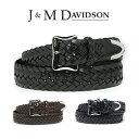 J&M DAVIDSON ベルト 30mm メッシュ レザー メンズ J&Mデヴィッドソン ベルト ブラック ブラウン ジェイアンドエムデヴィッドソン ギフト