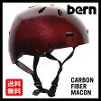 送料無料 Bern バーン MACON CARBON FIBER RED [JAPAN FIT][メーコン][ヘルメット][自転車]