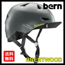 送料無料 Bern バーン BRENTWOOD Satin Charcoal [ブレントウッド][ヘルメット][自転車]