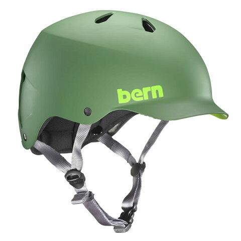 バーン Bern WATTS Matte Leaf Green [ヘルメット][ワッツ][自転車][バイク][スポーツ][メンズ][2017年モデル][12/18 13:59まで ポイント10倍]