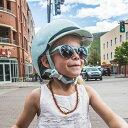 バーン Bern NINA Satin Seaglass Polka Dot ヘルメット 子供用 キッズ ニーナ 自転車 バイク スポーツ 3/23 13:59まで ポイント10倍