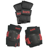 Bern バーン JUNIOR SKATE PAD SET Red FREE[0702bonus_coupon]