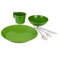 GSI カスケーディアン 1人用テーブルセット グリーン [カトラリーセット][アウトドア用食器セット][テーブルウェア]の画像