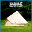 NEUTRAL OUTDOOR ニュートラルアウトドア NT-TE03 GEテント 4m ベージュ [テント][0702bonus_coupon]