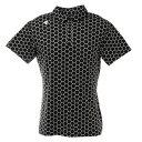 デサントゴルフ(DESCENTEGOLF) ポリエステルスムースISHIプリントシャツ DGMRJA10-BK00 (メンズ)