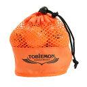 トビエモン(TOBIEMON) ゴルフボール TOBIEMON(トビエモン) メッシュバッグ入り オレンジ 12球入り TBM-2MBO (メンズ、レディース、キッズ)