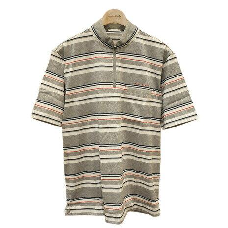 ヒールクリーク(HEAL CREEK) マリンボーダーシャツ半袖 001-21340-11-52 LGRY ※店頭展開商品の為、汚れが有る場合がございます。 (Men's) 【☆ポイント10倍☆最大15%offクーポン☆1,980円以上送料無料】ヴィクトリアゴルフ