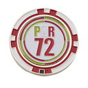パーセッタンタドゥエ(PAR72) 【多少の傷、汚れにつき処分価格で大奉仕、売り切れご容赦!】 マーカーコインタイプ (ゴルフマーカー) 430PAR4TPG02 RED (Men's、Lady's、Jr)