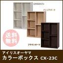 【タイムセール】【カラーボックス 収納ボックス】アイリスオーヤマ CBボックスCX-23C オフホワイト/フレンチオーク/…