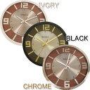 木材との組み合わせでカッコイイ時計です☆【送料無料】時計 MCM BLACK・IVORY・CHROME WCL014【TC】【ミッドセンチュリー・木製・スチール・レトロ・インテリア・壁掛け・ウォールクロック・ギフト・プレゼント】【デザイン家電】【ビンテージ/ヴィンテージ/ネオ/クラシック】