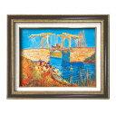 (額装品)世界の名画9573 F6 ゴッホ「アルルのはね橋」 117140