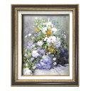 (額装品)世界の名画9573 F6 ルノワール「花瓶の花」 117171