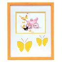 蝶々の額 黄色い額 いわさきちひろアート額5620 乳母車と赤ちゃん 116211