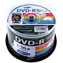 HI DISC DVD-R 4.7GB 50枚スピンドル 1〜16倍速対応 ワイドプリンタブル HDDR47JNP50