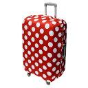ミヨシ 撥水スーツケースカバー Lサイズ レッドドット柄 MBZ-SCL3/RD 【RCP】【AS】送料込みで販売!