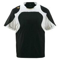 デサント(DESCENTE) ベースボールシャツ (野球) DB115 ブラック×Sホワイト×Sゴールド O 送料込!の画像