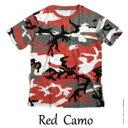 ショッピングアウトドア カモフラージュ Tシャツ( 迷彩 Tシャツ) JT048YN レッド カモ Sサイズ