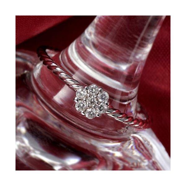K14WG(ホワイトゴールド) ダイヤリング 指輪  セブンスターリング 15号 送料無料! 激安かわいい & おしゃれダイヤモンドリング以下のような
