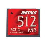 バッファロー コンパクトフラッシュ ハイコストパフォーマンスモデル 512MB RCF-X512MY 送料込!