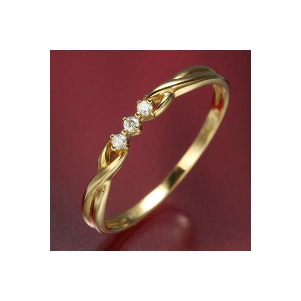 【ポイント2倍】K18ダイヤリング 指輪  デザインリング 13号 送料無料!