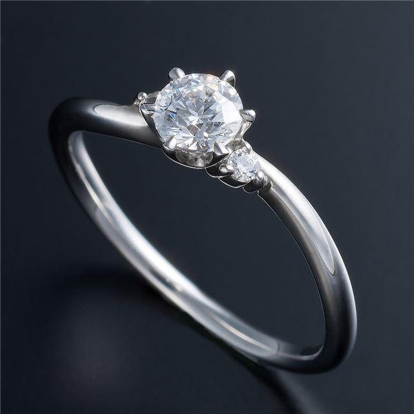 Dカラー・VVS2・EX Pt0.3ct ダイヤリング 両側ダイヤモンド(鑑定書付き) 10号 送料無料! 婚約指輪・ブライダル・エンゲージリングに!Dカラー・VVS2・エクセレントカットダイヤモンドリング