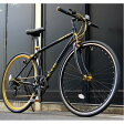 クロスバイク 700c(約28インチ)/ブラック(黒) シマノ7段変速 重さ/ 12.0kg 軽量 アルミフレーム 【LIG MOVE】【代引不可】 送料込