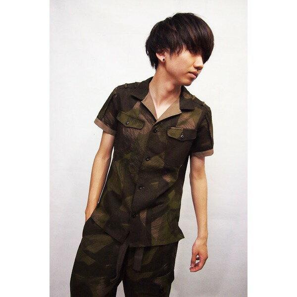 VADEL combat shirts SS KHAKI×BEIGE サイズ44【代引不可】 送料無料!