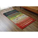 【ポイント5倍】トルコ製 ウィルトン織り カーペット 絨毯 『マリア RUG』 グリーン 約80×140cm 送料込!
