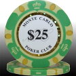 【ポイント2倍】MONTECARLO モンテカルロ・ポーカーチップ<25>緑 25枚セット 【02P23Apr16】