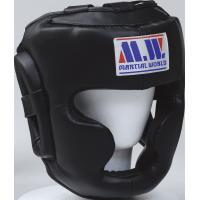 HG50-XL-BK martial world Pro spec sparring head guard XL Black fs3gm