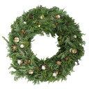 玄関の飾りに本物のコニファーでできたナチュラルでかわいいクリスマスリースLサイズ/玄関・φ24cm■玄関の飾りなら本物のコニファーでできたナチュラルでかわいいク...