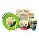 ピクニックセット トウキョウ 4人分セット キャンパーセット Eco Soulife エコソウライフ アウトドア 皿 キャンプ 運動会 お花見