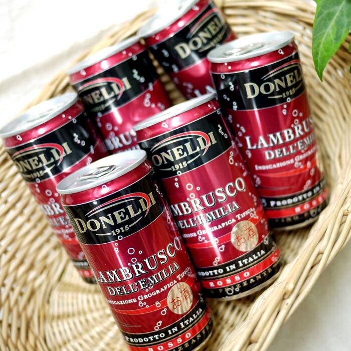 ドネリ ランブルスコ ロッソ 200ml×6缶の商品画像