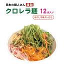 ショッピングラーメン 栄養満点!クロレラ麺使用の冷やし中華 12食入【クール便送料無料】クロレララーメン 生めん グリーンラーメン クロレラらーめん