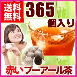 【 送料無料! 】赤いプーアル茶 365個入り で2Lのお茶ができる 噂のダイエット茶 プーアール茶 ダイエットティー台湾産