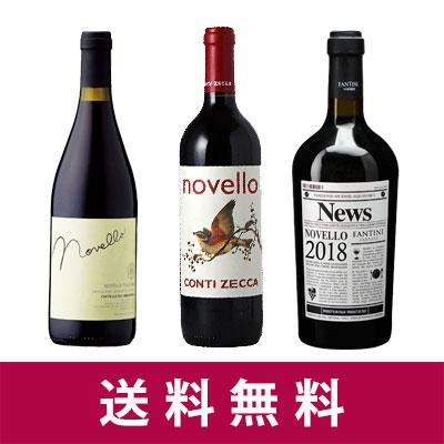 【予約販売】【新酒ワイン】ヴィーノ・ノヴェッロ 2018 3本セット【送料無料】【赤ワインセット】10月30日解禁!お届けは10月30日以降となります。