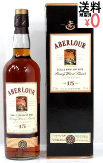 At the end 売品 アベラワー 15 years cherrywood finish ABERLOUR 700ml/40 degrees