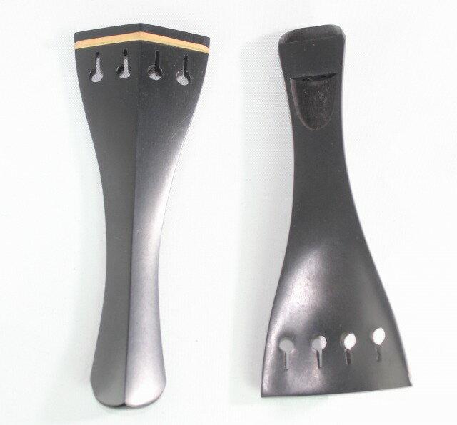 黒檀のテールピース、ヒル型、白フレット