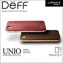 iPhone 7 用 HYBRID Case UNIO Wooden for iPhone 7【送料無料】iPhone iPhone7 iPhoneケース Deff ディ—フ 高級木材 ハイブリッドケース アルミバンパー