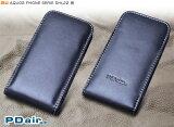 PDAIR レザーケース for AQUOS PHONE SERIE SHL22 バーティカルポーチタイプ