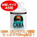 【アミノの力】 ★イライラさんに注目のアミノ酸【お試し用】GABA・ギャバ(ガンマアミノ酪酸)750mg 45カプセル