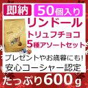 即納 リンツ リンドール600g 特大トリュフチョコレート ご進物用に贅沢5種類アソート5