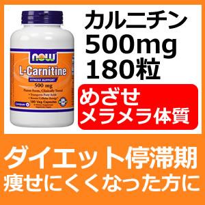お徳用 L-カルニチン 500mg 180カプセルさよなら!ダイエット停滞体質 代謝アップの決定版ダイエットサプリお徳用 L-カルニチン 500mg 180カプセル