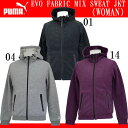 EVO FABRIC MIX SWEAT JKT (WOMAN)【PUMA】プーマ ● レディースウエア(570191)*70