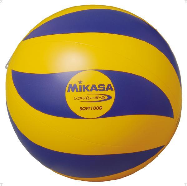 ソフトバレー YE/BLU 100G【MIKASA】ミカサバレー11FW mikasa(SOFT100G)<お取り寄せ商品の為、発送に2〜5日掛かります。>*25