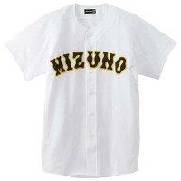 『ミズノプロ』メッシュシャツ(オープン型)(野球) (01ホワイト) 【MIZUNO】ミズノ 野球 ウエア ユニフォームシャツ (52MW17301)*25の画像
