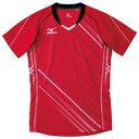 排球 - ゲームシャツ(バレーボール)(62レッド×ホワイト)【MIZUNO】ミズノバレーボール ウエア ゲームウエア(v2ma500162)*25