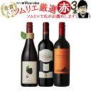 送料無料 北海道・沖縄・離島を除く ワインソムリエおすすめ! ワイン通を飽きさせない 旨口赤ワイン 3本セット 赤ワイン スペインワイン フランスワイン チリワイン ワインセット ソムリエ厳選